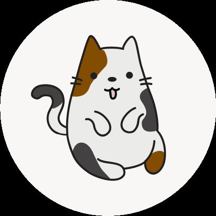 cartoon senior cat